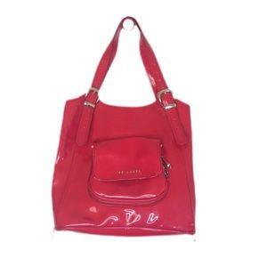 Ted Baker Patent Leather Red Tama Tote Bag